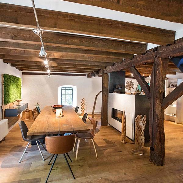 Hölzernes elegantes Wohnzimmer der Tischlerei Pickelein